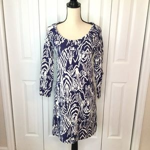 Lilly Pulitzer Zebra Print Sweatshirt Dress size M